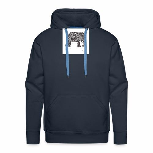 tangle-elephant print - Männer Premium Hoodie