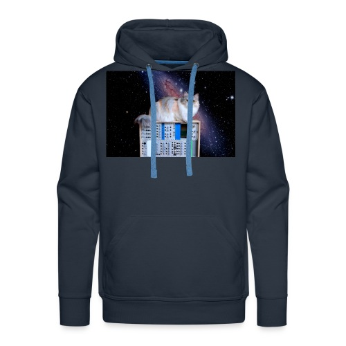Cat on synthesizer in space EuroPaw - Mannen Premium hoodie