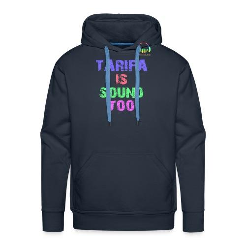 Tarifa tambiés es sonido - Sudadera con capucha premium para hombre