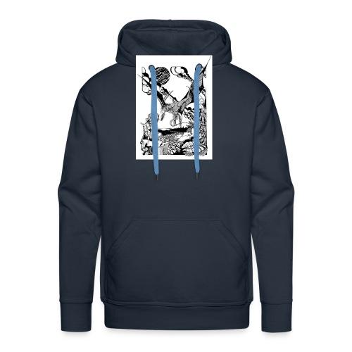 guerrera - Sudadera con capucha premium para hombre