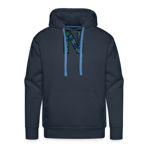 Letra N Mandala - Sudadera con capucha premium para hombre