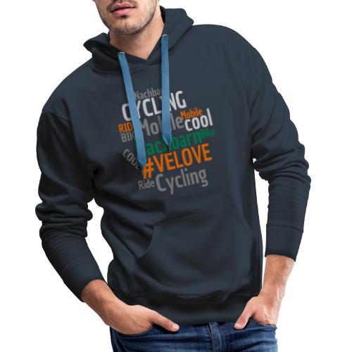 Mobile Nachbarn - WordCloud - Männer Premium Hoodie
