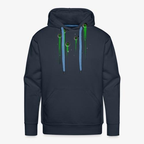 Matrix t-shirt | Web | Geek | Bullet wounds - Men's Premium Hoodie