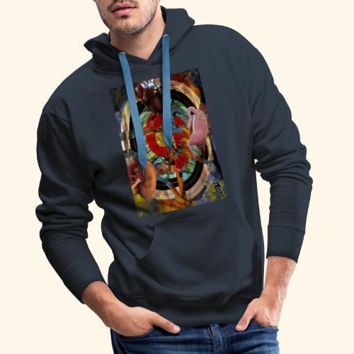 camisa tiro al blanco - Sudadera con capucha premium para hombre
