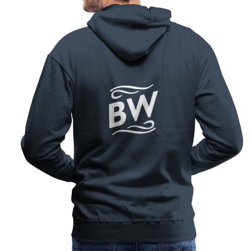 White BW logo - Premiumluvtröja herr