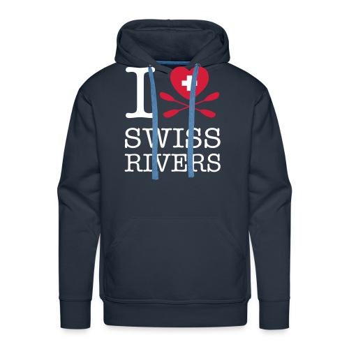 I LoveSwiss Rivers_MEN_VS - Männer Premium Hoodie