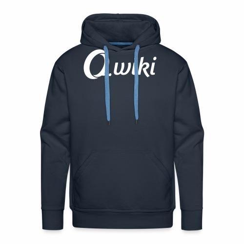 Q_wiki_Logo_Weiss - Männer Premium Hoodie