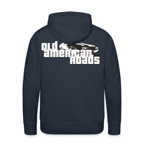 Old American roads - Sweat-shirt à capuche Premium pour hommes