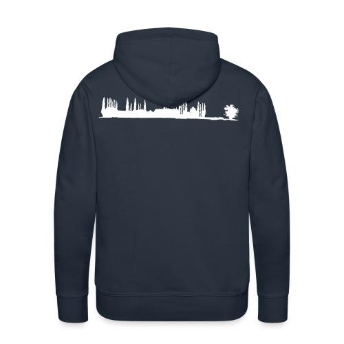 Silhouette de La Bretèche - Sweat-shirt à capuche Premium pour hommes