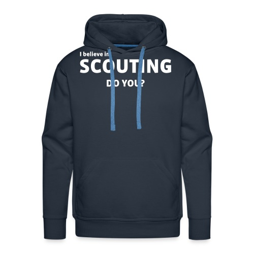 i believe in scouting - Herre Premium hættetrøje
