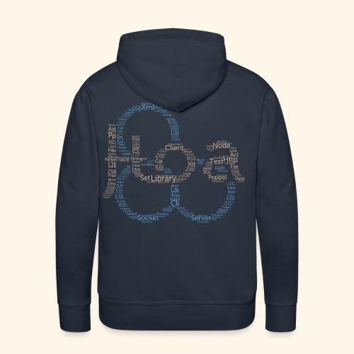 Hoa cloud (bitmap) - Men's Premium Hoodie