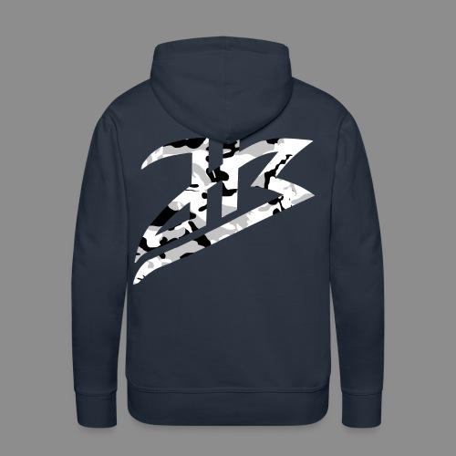 HB-Logo camo weißschwarz - Männer Premium Hoodie
