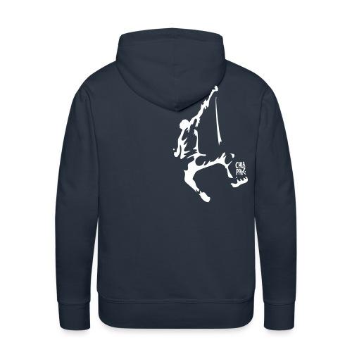 fallgrimpeur1sign - Sweat-shirt à capuche Premium pour hommes