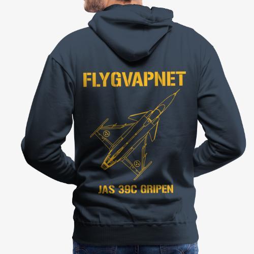 FLYGVAPNET - JAS 39C - Premiumluvtröja herr
