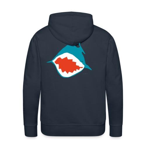 accaeffe's shark - Felpa con cappuccio premium da uomo