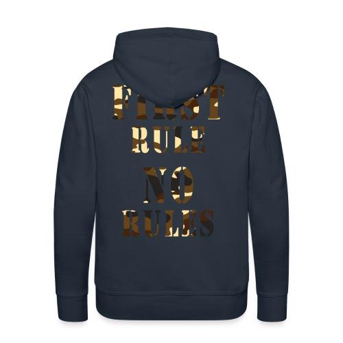 first rule no rules - Sweat-shirt à capuche Premium pour hommes
