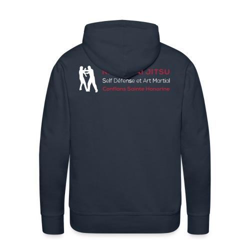 LogoVectoFinal2 - Sweat-shirt à capuche Premium pour hommes