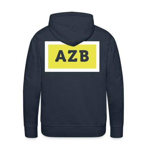 AZB Wit Geel Back - Mannen Premium hoodie