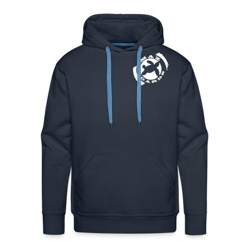 logonoir675x700 bleu 1 - Sweat-shirt à capuche Premium pour hommes