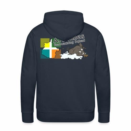 Ardennes Géocaching Squad - Sweat-shirt à capuche Premium pour hommes