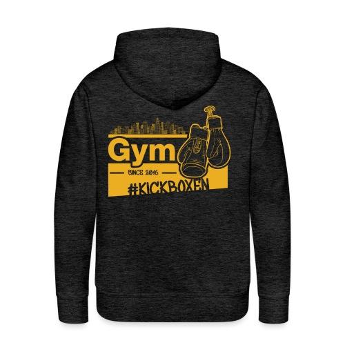 Gym Druckfarbe Orange - Männer Premium Hoodie