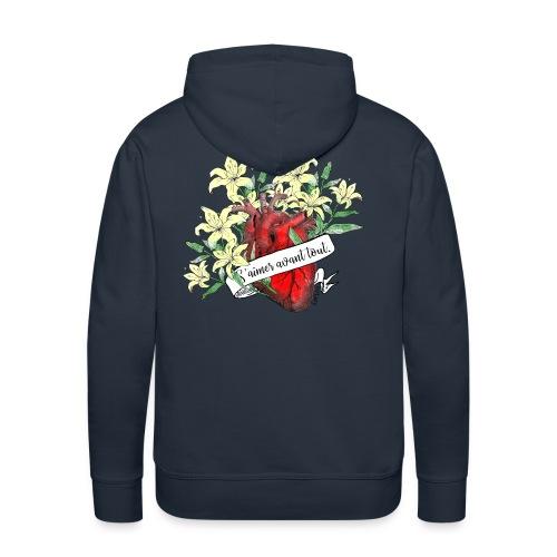 Lysie Heart - Sweat-shirt à capuche Premium pour hommes
