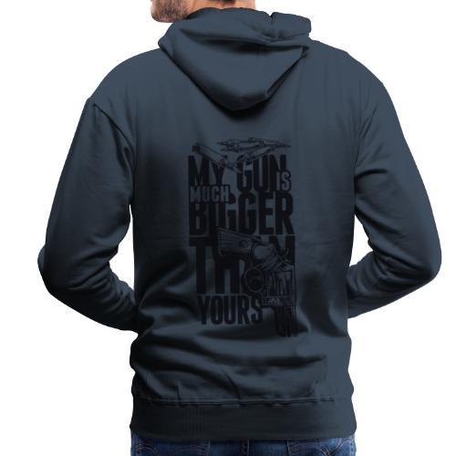 mygun is bigger - Sweat-shirt à capuche Premium pour hommes