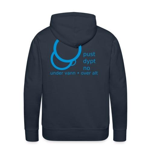 Pust Dypt logo - Premium hettegenser for menn
