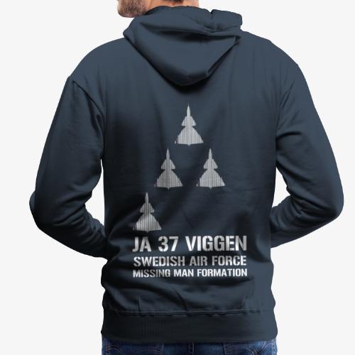 JA 37 Viggen - Missing Man Formation - Premiumluvtröja herr