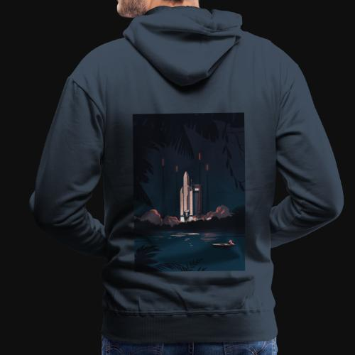 Ariane 5 - Launching By Tom Haugomat - Men's Premium Hoodie