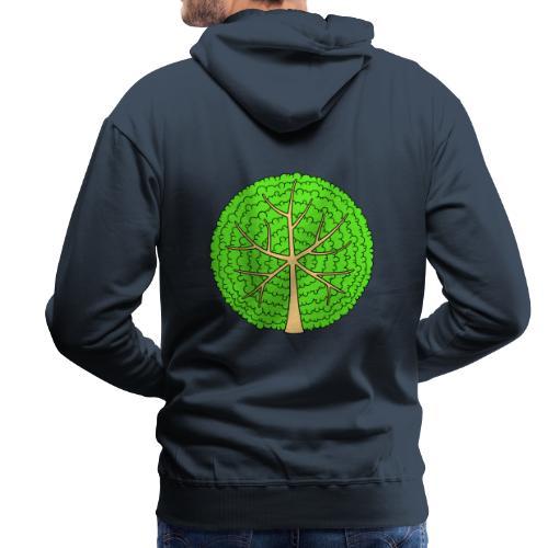 Baum, rund, hellgrün - Männer Premium Hoodie