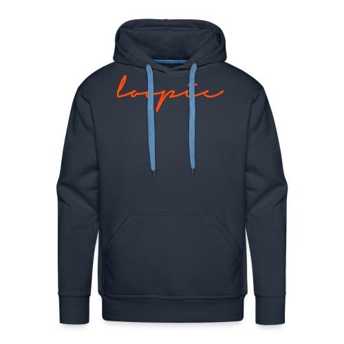 Loopie_logo_WHITE - Men's Premium Hoodie
