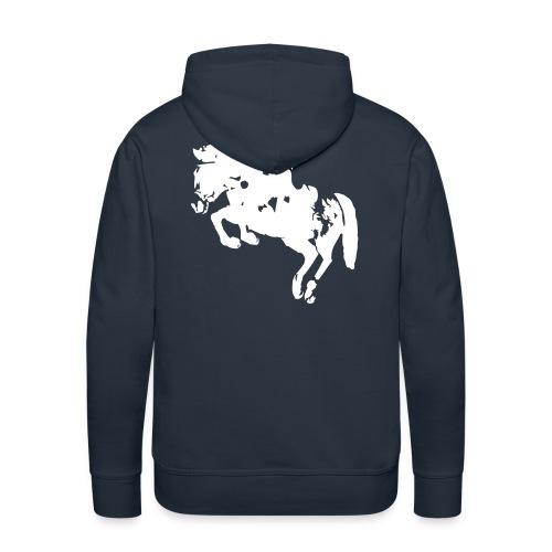 springreiter_pferd - Männer Premium Hoodie