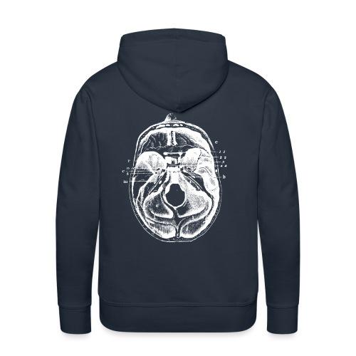 Esprit ouvert Blanc - Sweat-shirt à capuche Premium pour hommes