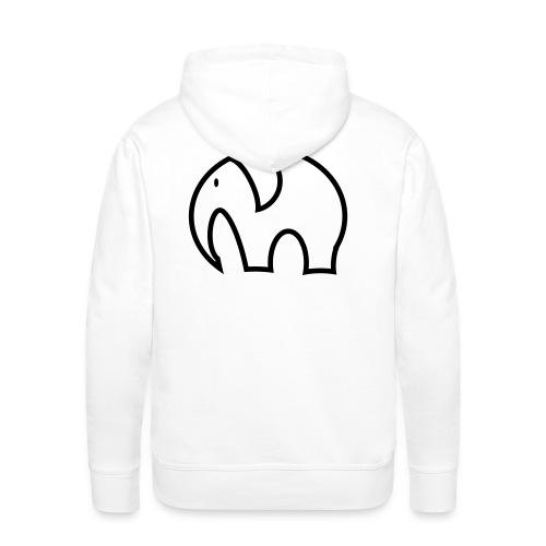 olifant pictogram - Mannen Premium hoodie