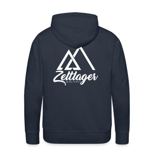 Zeltlager Logo hinten weiß Edition - Männer Premium Hoodie
