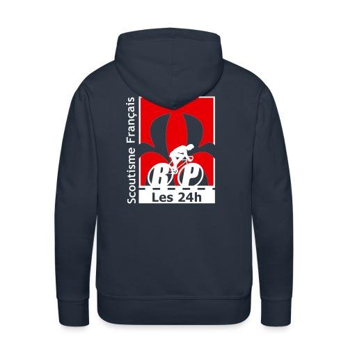 logo bw2blanc - Sweat-shirt à capuche Premium pour hommes