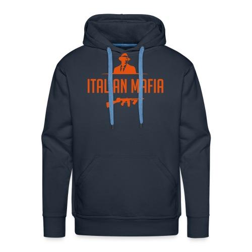 italian mafia - Felpa con cappuccio premium da uomo