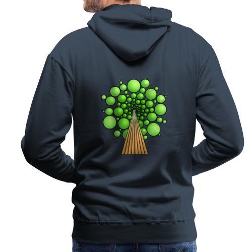 Kugel-Baum, 3d, hellgrün - Männer Premium Hoodie