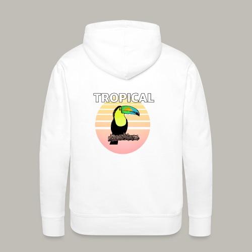 Toucan in the sun - Sweat-shirt à capuche Premium pour hommes
