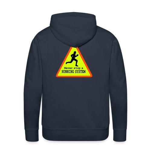 Never stop running - Männer Premium Hoodie