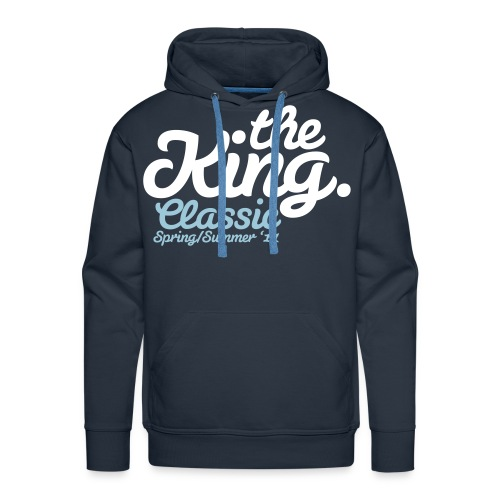 the king classic - Bluza męska Premium z kapturem