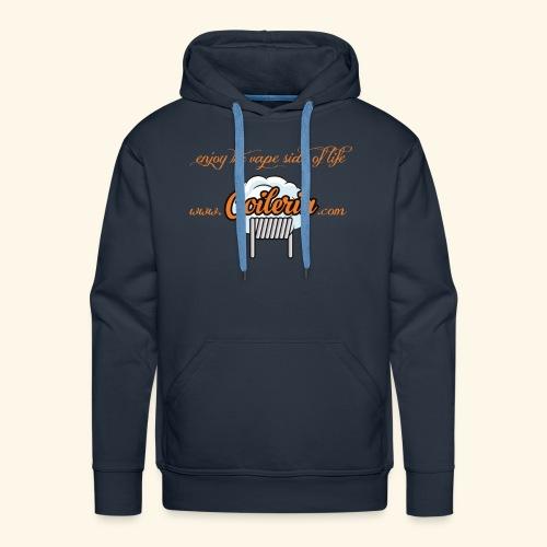 Coileria - enjoy the vape side of life - Männer Premium Hoodie