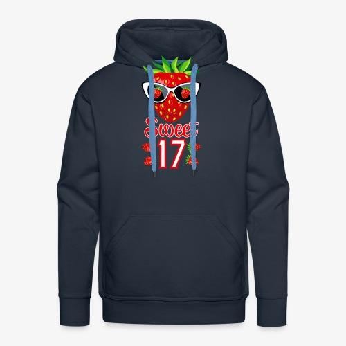 02 Sweet 17 Erdbeere Sonnenbrille Geburtstag - Männer Premium Hoodie