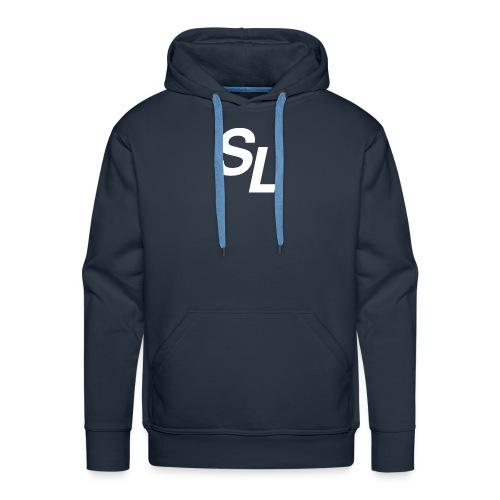 SL Logo Hvit - Premium hettegenser for menn