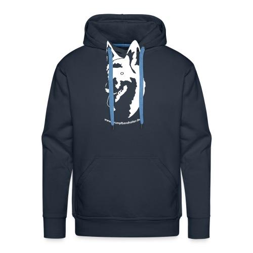 T-Shirt Hundekopf - brauner Aufdruck - Männer Premium Hoodie