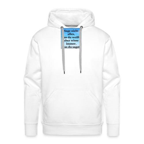 wissen - Männer Premium Hoodie