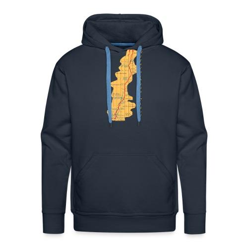 appalachian-trail-map - Männer Premium Hoodie