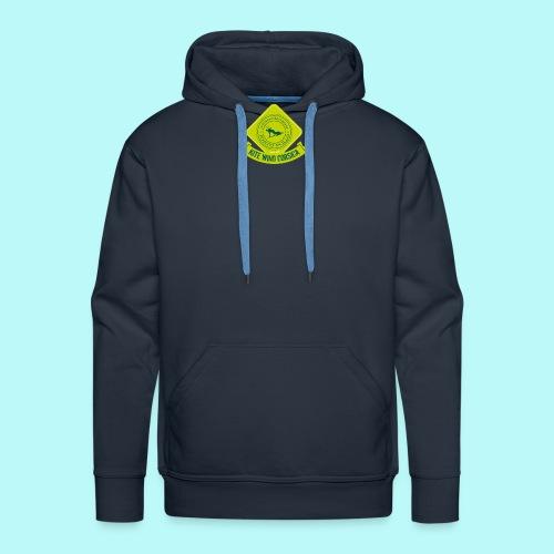 logo-vert-clair - Sweat-shirt à capuche Premium pour hommes