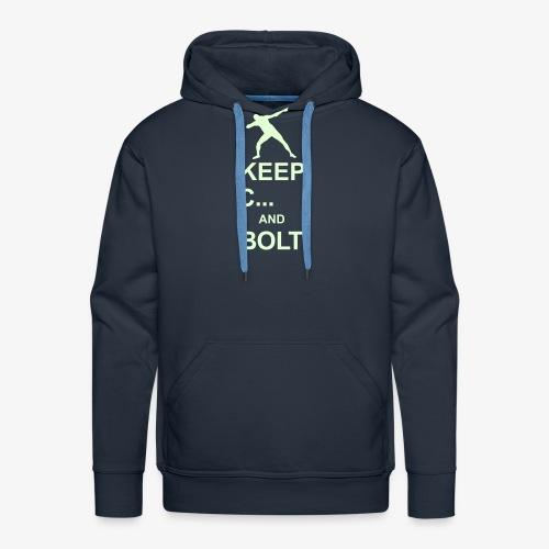 Keep Calm And... Bolt 2c - Men's Premium Hoodie